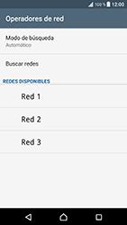 Sony Xperia XZ - Android Nougat - Red - Seleccionar una red - Paso 8