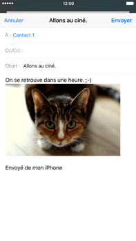 Apple iPhone 6 Plus iOS 9 - E-mail - envoyer un e-mail - Étape 13
