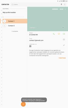 Samsung Galaxy Tab A 10.1 - Android Nougat - Contacten en data - Contacten overzetten via Bluetooth - Stap 10
