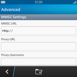 BlackBerry Q5 - Mms - Manual configuration - Step 10