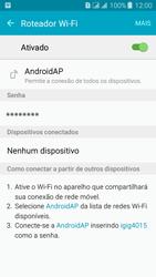 Samsung Galaxy J3 Duos - Wi-Fi - Como usar seu aparelho como um roteador de rede wi-fi - Etapa 11