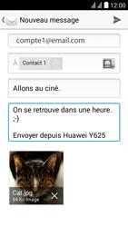 Huawei Y625 - E-mail - envoyer un e-mail - Étape 13