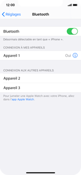 Apple iPhone XS - iOS 13 - Bluetooth - Jumeler avec un appareil - Étape 6