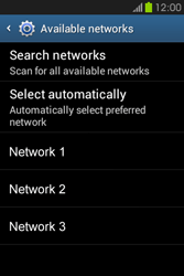 Samsung S6810P Galaxy Fame - Network - Usage across the border - Step 9