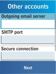 Samsung C3300K - E-mail - Manual configuration - Step 14