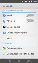 Sony D2105 Xperia E1 Dual - Rede móvel - Como ativar e desativar uma rede de dados - Etapa 4