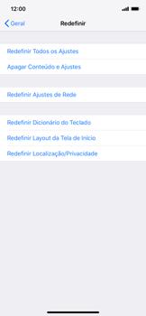 Apple iPhone XR - Funções básicas - Como restaurar as configurações originais do seu aparelho - Etapa 5