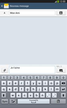 Samsung Galaxy Tab 3 8 4G - Contact, Appels, SMS/MMS - Envoyer un SMS - Étape 10