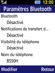 Samsung B550H Xcover 550 - Bluetooth - connexion Bluetooth - Étape 8