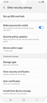 Samsung Galaxy A40 - Security - Set the PIN code for your SIM card - Step 6