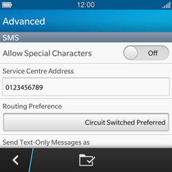 BlackBerry Q5 - SMS - Manual configuration - Step 10