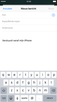 Apple iPhone 6s Plus iOS 10 - E-mail - hoe te versturen - Stap 4