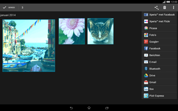 Sony Xperia Tablet Z2 4G (SGP521) - Contacten en data - Foto