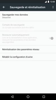 Huawei Google Nexus 6P - Device maintenance - Retour aux réglages usine - Étape 6