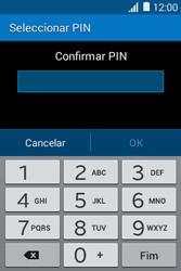 Samsung Galaxy Young II - Segurança - Como ativar o código de bloqueio do ecrã -  9