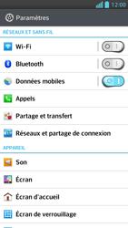 LG Optimus F5 - Internet et connexion - Désactiver la connexion Internet - Étape 4