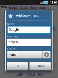 Samsung S5570 Galaxy Mini - Internet - Internet browsing - Step 5