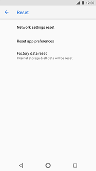Nokia 6 (2018) - Device - Factory reset - Step 7