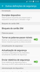 Samsung Galaxy S6 - Segurança - Como ativar o código PIN do cartão de telemóvel -  6