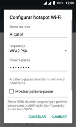 Alcatel Pixi 4 - Wi-Fi - Como usar seu aparelho como um roteador de rede wi-fi - Etapa 8