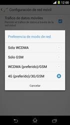 Sony Xperia Z1 - Red - Seleccionar el tipo de red - Paso 7