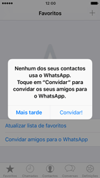 Apple iPhone SE iOS 10 - Aplicações - Como configurar o WhatsApp -  14