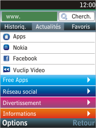 Nokia C2-05 - Internet - Navigation sur Internet - Étape 13