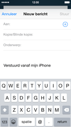 Apple iPhone 5c (iOS 8) - e-mail - hoe te versturen - stap 4