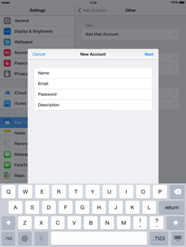 Apple iPad Air iOS 8 - Email - Manual configuration - Step 9