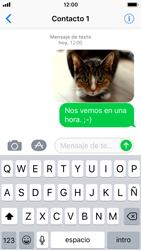 Apple iPhone SE iOS 11 - Mensajería - Escribir y enviar un mensaje multimedia - Paso 15
