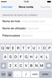 Apple iPhone 4S iOS 8 - Email - Configurar a conta de Email -  13