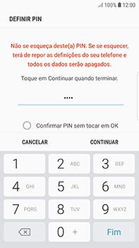 Samsung Galaxy S7 Edge - Android Oreo - Segurança - Como ativar o código de bloqueio do ecrã -  8