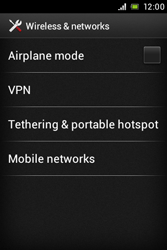 Sony ST21i Xperia Tipo - Internet - Enable or disable - Step 5