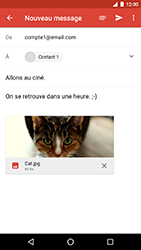 LG Nexus 5X - Android Oreo - E-mail - Envoi d