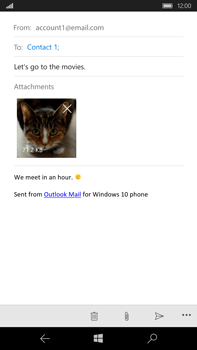 Microsoft Lumia 950 XL - Email - Sending an email message - Step 15