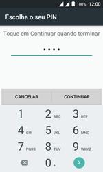 """Alcatel Pixi 4 (4"""") - Segurança - Como ativar o código de bloqueio do ecrã -  8"""