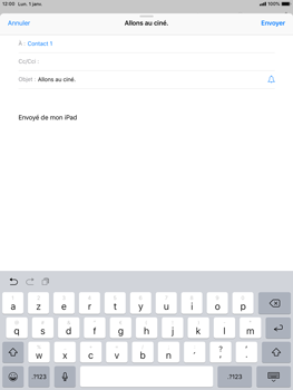 Apple iPad Air iOS 12 - E-mail - envoyer un e-mail - Étape 6