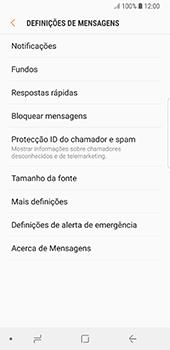 Samsung Galaxy S8 - Android Oreo - SMS - Como configurar o centro de mensagens -  6