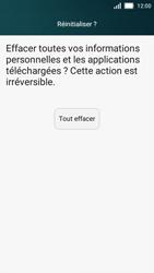 Huawei Y5 - Device maintenance - Retour aux réglages usine - Étape 7