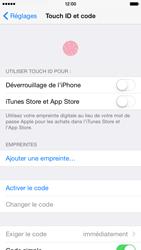 Apple iPhone 6 iOS 8 - Sécuriser votre mobile - Activer le code de verrouillage - Étape 4