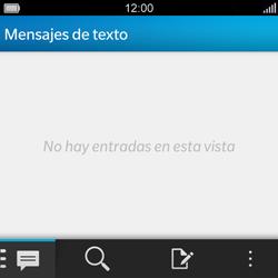 BlackBerry Q5 - Mensajería - Configurar el equipo para mensajes de texto - Paso 3