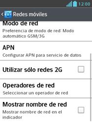 LG Optimus L3 II - Red - Seleccionar una red - Paso 6