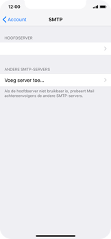 Apple iPhone X - iOS 12 - E-mail - Account instellen (IMAP met SMTP-verificatie) - Stap 22