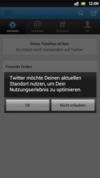 Sony Xperia S - Apps - Twitter einrichten - Schritt 9