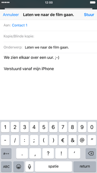 Apple iPhone 6 Plus iOS 9 - E-mail - E-mail versturen - Stap 8