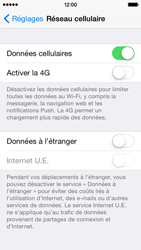 Apple iPhone 5 iOS 8 - Internet - Activer ou désactiver - Étape 4