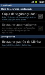 Samsung I9100 Galaxy S II - Funções básicas - Como restaurar as configurações originais do seu aparelho - Etapa 5