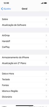 Apple iPhone X - iOS 13 - Primeiros passos - Como encontrar o número de IMEI do seu aparelho - Etapa 4
