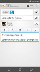 Sony E2003 Xperia E4 G - Email - Sending an email message - Step 14