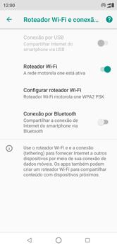 Motorola One - Wi-Fi - Como usar seu aparelho como um roteador de rede wi-fi - Etapa 9